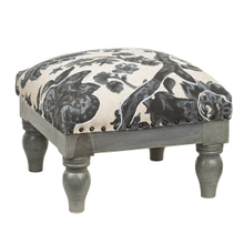 See Details - Blue Floral Block Stool (Each One Will Vary)