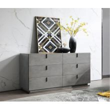 Modrest Buckley - Modern Grey Crackle Dresser