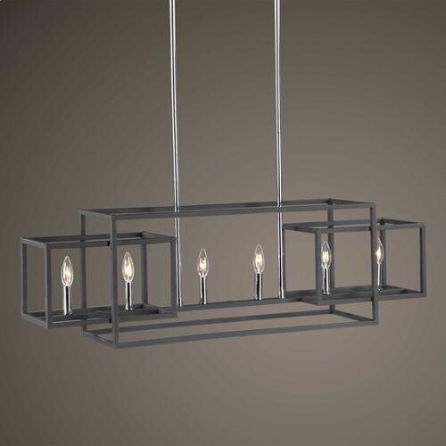 Quadrangle, 6 Lt Chandelier