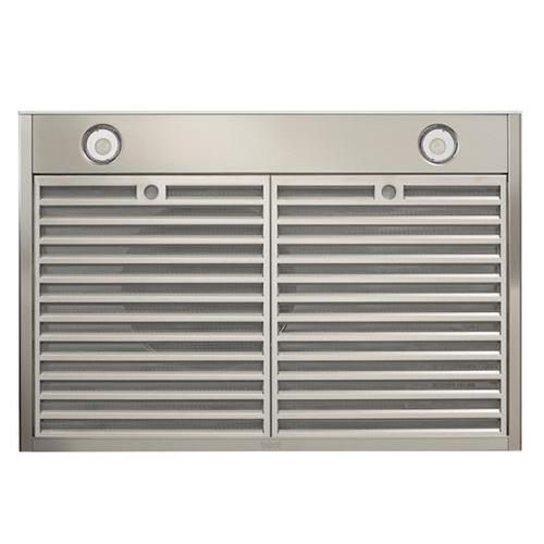 BEST Range Hoods - Ispira 30-in. 550 Max CFM Stainless Steel Under-Cabinet Range Hood with PURLED™ Light System and White Glass, ENERGY STAR certified