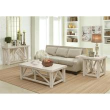 View Product - Aberdeen - Coffee Table - Weathered Worn White Finish
