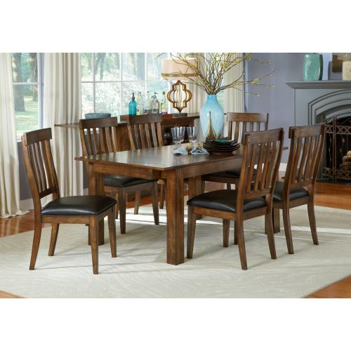 Mariposa Dining Table and 4 Chairs-Rustic Whiskey