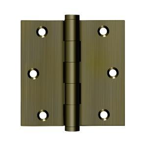 "Deltana - 3-1/2"" x 3-1/2"" Square Hinge - Antique Brass"