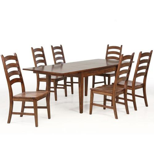 Rectangle Leg Table W/ Double Butterfly Leaf
