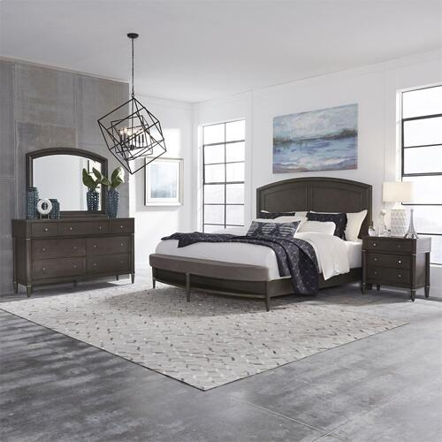 King Opt Panel Bed, Dresser & Mirror, N/S
