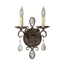 Chateau Double Sconce Mocha Bronze