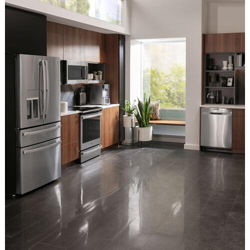 "GE Profile™ 30"" Smart Slide-In Electric Convection Fingerprint Resistant Range with No Preheat Air Fry"