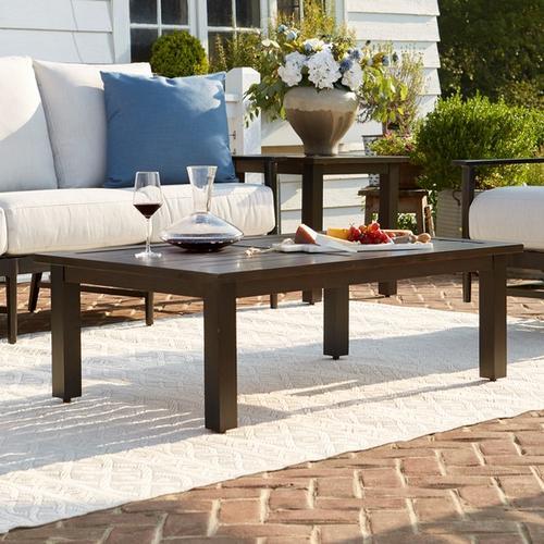 Bassett Furniture - Aluminum Farm Tables Rectangular Cocktail Table