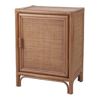 Granada Rattan End Table, Canary Brown