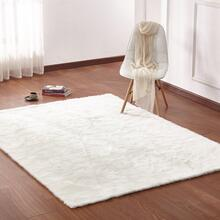 "Luxury Soft Faux Fur Sheepskin Area Rug by Rug Factory Plus - 7'6"" x 10'3"" / White"