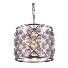 Madison 3 light Polished nickel Pendant Clear Royal Cut Crystal