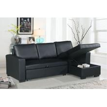 Tahlia 2pc Sectional Sofa Set, Black