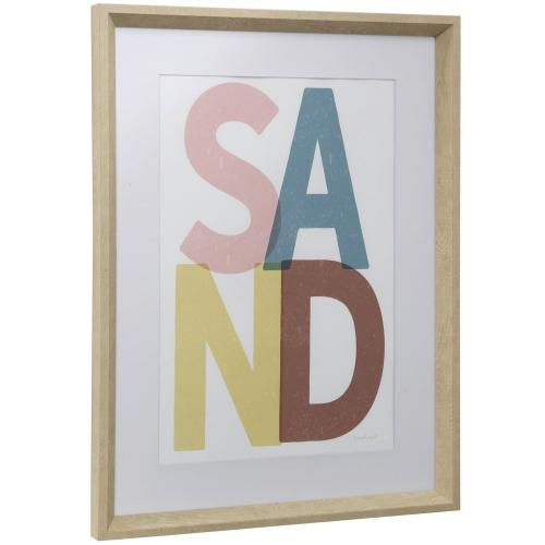 Style Craft - SAND  17in w X 23in ht  Framed Print Under Glass with Matte