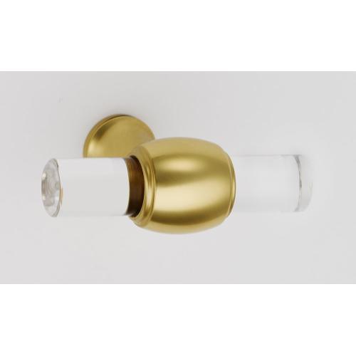 Acrylic Royale Knob A870-45 - Polished Brass