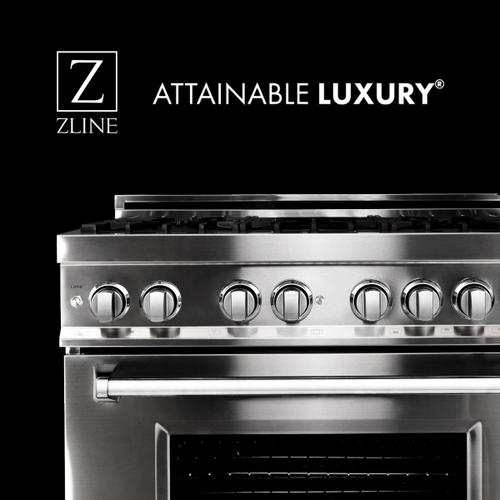 "ZLINE 30"" Black Stainless 4.0 cu.ft. 4 Gas Burner/Electric Oven Range (RAB-30)"