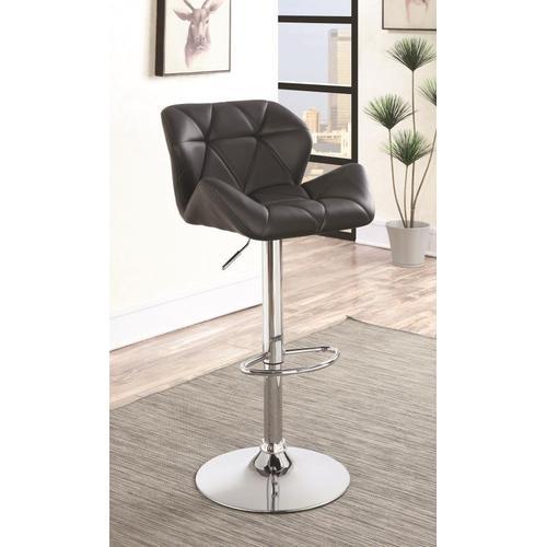 Coaster - Adjustable Bar Stool, Black