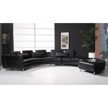 Divani Casa A94 - Contemporary Leather Sectional Sofa & Ottoman