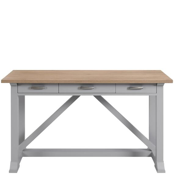 Riverside - Osborne - Writing Desk - Timeless Oak/gray Skies Finish