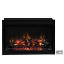"""See Details - 36"""" Traditional Built-In Electric Fireplace Insert, 120 Volt"""