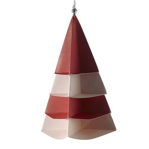 1.75'' x 4.25'' Red Origami Ornament