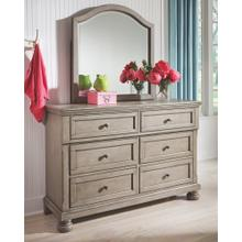 Lettner Dresser and Mirror Gray