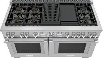 Dual Fuel Freestanding Range 60'' Pro Grand™ Commercial Depth PRD606WCG