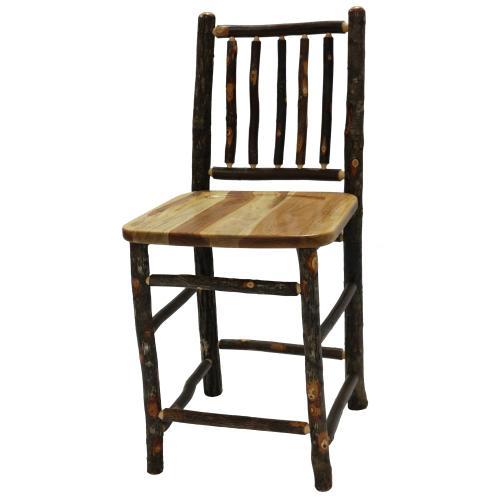 "Counter Stool - 24"" high - Antique Oak - Antique Oak seat"