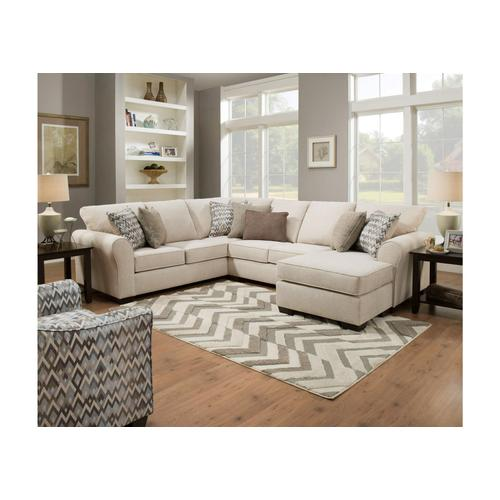 Gallery - 1657 Two Piece Sleeper Sectional with Chaise