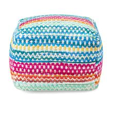 Pavia Colorful Handwoven Pouf
