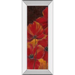 """""""Midnight Poppy I"""" By Richard Henson Mirror Framed Print Wall Art"""