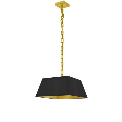 Product Image - 1lt Milano Small Pendant, Blk/gld Shade, Agb