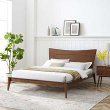 Astra Full Wood Platform Bed in Walnut