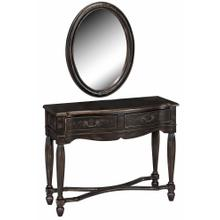 Console / Mirror Set 2dw Black
