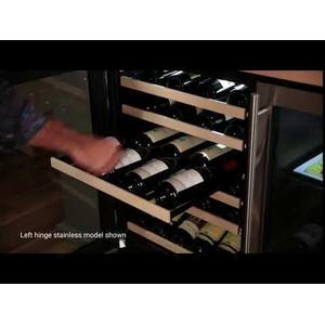 24-In Built-In High Efficiency Single Zone Wine Refrigerator with Door Style - Black Frame Glass, Door Swing - Left