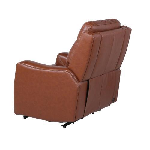 Natalia Dual-Power Leather Recliner Chair, Coach
