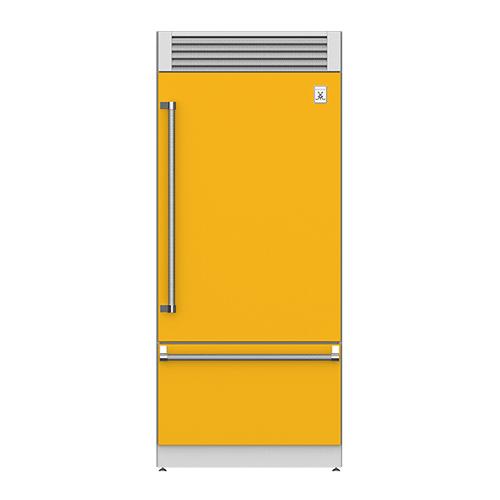"36"" Pro Style Bottom Mount, Top Compressor Refrigerator - KRP Series - Sol"