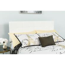 See Details - Bedford Tufted Upholstered King Size Headboard in White Fabric