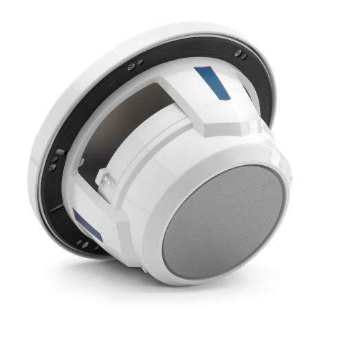 JL Audio - 7.7-inch (196 mm) Marine Coaxial Speakers, Gloss White Trim Ring, Gloss White Sport Grille