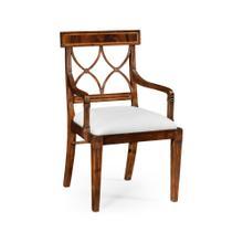 Regency mahogany curved back chair (Arm) - COM