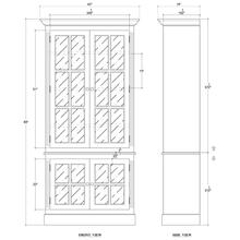 Walton 4 Door Glass Cabinet