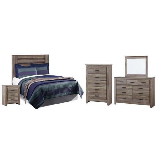 Product Image - Full Panel Headboard With Mirrored Dresser, Chest and Nightstand