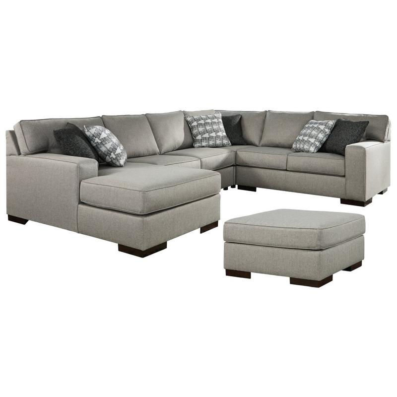 View Product - 4-piece Sectional With Ottoman