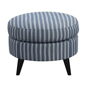 Oscar Chair & Ottoman Blue Stripe