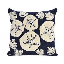 View Product - Liora Manne Frontporch Shell Toss Indoor/Outdoor Pillow Navy