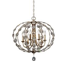 Leila 6-Light Chandelier Burnished Silver