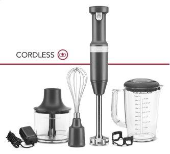 Variable Speed Cordless Hand Blender - Charcoal Grey