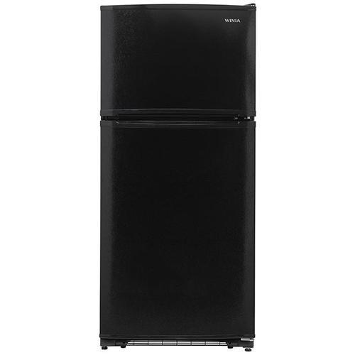 Winia - 18.2 cu. ft. Top Mount Refrigerator - Black