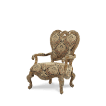 Palais Royale Wood Trim Chair Rococo Cognac