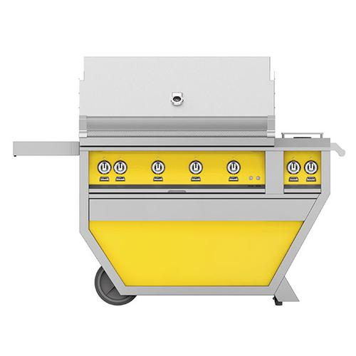 """Hestan - 42"""" Hestan Outdoor Deluxe Grill with Double Side Burner - G_BR__CX_ Series - Sol"""