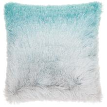 "Shag Tr011 Turquoise/silver 20"" X 20"" Throw Pillow"